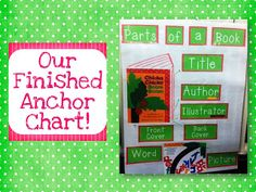 Parts of a Book Anchor Chart freebie!  Great for teaching concepts of print!