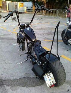 Harley Davidson. Sportster  ape. Hanger. &  sissy  bar