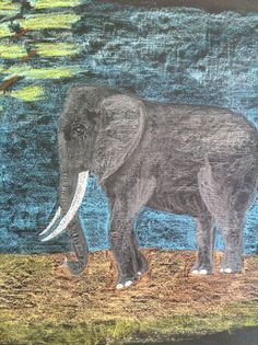 The Waldorf School of Philadelphia Fourth Grade Elephant Drawing in chalk