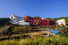 Buddha Win Sein, the longest reclining Buddha in the world, Mawlamyine…