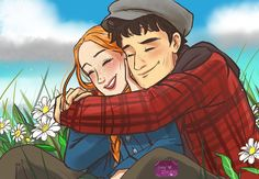 Anne Shirley, Amybeth Mcnulty, Gilbert And Anne, Anne White, Anne With An E, Gilbert Blythe, Girly Drawings, Fan Picture, Fanart