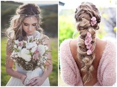 Bohemian wedding themes are actually taking over these days. There's a reason for it. Boho weddings perfectly incorporate rustic, free and vintage elements into one. It makes your wedding more like a fairy event. And boho wedding hairstyles is something many brides looking for.
