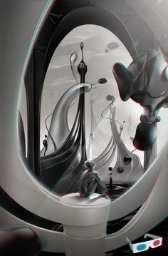 #illustration #3d #futuristic #abstract Ebb & Flow by Giovanni Maisto