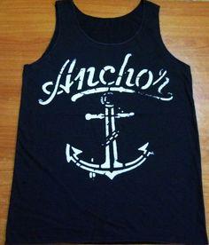 Shirt Anchor Shirts Navy Beach Marine Ship Devil Shirt Black Tank Top Women Top Vest Sleeveless Tunics Women T-Shirt Size M L