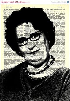 """Phyllis Vance - The Office Series -8x11"""" Print on Vintage repurposed paper - dictionary print"""