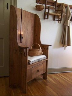 Primitive bench... Love the drawer