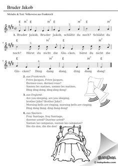 Bruder Jakob - Kinderlied & Kanon in 33 Sprachen Baby Shark Music, Baby Shark Dance, Baby Music, Baby Songs, Kids Songs, Kindergarten Songs, Baby Shark Doo Doo, Memphis May Fire, Kalimba