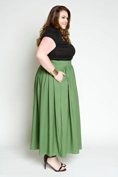 3997637f160 Plus Size Clothing for Women - Margarita Maxi Skirt with Pockets (Sizes 14  - 28