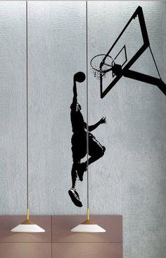 Basket Dunk - uBer Stickers Wall Decal vinyle décor Art Sticker amovible murale moderne A277