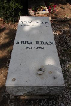 """Abba Eban (1915 - 2002) First Israeli ambassador to the United Nations and the United States. One of the major figures in the founding of Israel. Eban published many books about Israel and its history throughout the years, including """"Promised Land,"""" """"My Country: The Story of Modern Israel,"""" """"The Tide of Nationalism,"""" and, in 1998, """"Diplomacy for the Next Century."""" His name at birth was Aubrey Solomon Meir."""