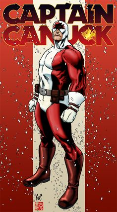 Captain Canuck. gained mysterious superpowers after being abducted by aliens.