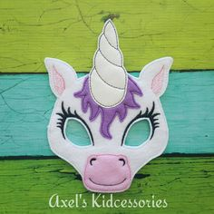Check out this item in my Etsy shop https://www.etsy.com/listing/483506095/unicorn-mask-unicorn-felt-mask-unicorn