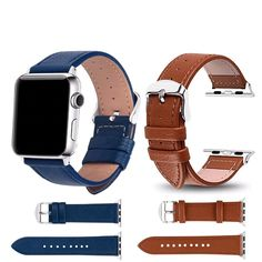 Leather Watchband for Apple iWatch 42 mm iWatch Band. Leather Watchband for Apple Watch Band Series Sport Bracelet 42 mm 38 mm Strap For iwatch Band. Check out the latest Apple watch bands and screen protectors. Apple Watch Price, Apple Watch 3, Apple Watch Models, Smart Watch Brands, Apple Watch Bands Fashion, Sport Armband, Stainless Steel Polish, Bracelet Cuir, Cow Leather