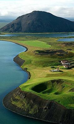 Lake Mývatn near Reykjahlið. Iceland