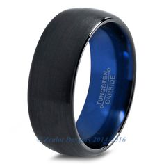 Diggin this for my boo.   Blue Chromacolor Black Dome Cut Tungsten Ring