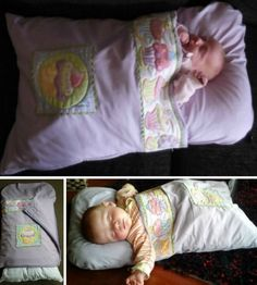 Baby Nap Mat Tutorial - How To Make A Pillowcase Baby Sleeping Bag