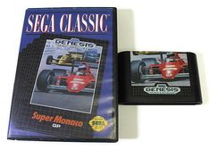 Super Monaco GP Sega Genesis 1990 Retro Video Game by Retro8Games