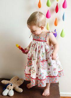 Daisy Sun Dress PDF Sewing Pattern and Tutorial by Felicity Patterns. Baby Girls Dress Pattern. Children's Sewing Pattern. Toddler Pattern.