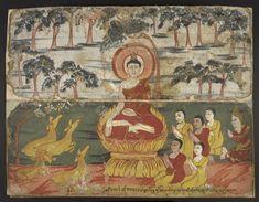 The Buddha gave the first sermon called the Dhammacakkappavattana Sutta to his five disciples (Panca Vaggi) – Kondanna, Vappa, Bhaddiya, Mahanam and Assaji – at the Deer Park near Benares (Varanasi) on the eve of Saturday, the full moon day of July (Waso).