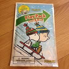 Play Pack Grab & Go Christmas Edition - Peanuts Gang Snoopy, Linus, Charlie Brown