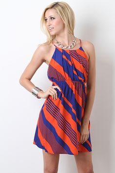 Line To Line Dress--Game day anyone?