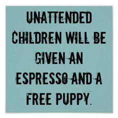 Het onbeheerde Poster van Kinderen