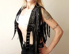 Damnation Angel one of a kind short leather by DreamWarriors