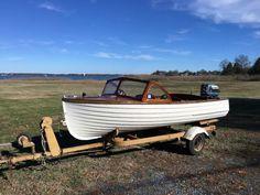 1958 Lyman 13 Old Boats, Small Boats, Lyman Boats, Sailing Dinghy, Boat Restoration, Small Sailboats, Classic Wooden Boats, Boat Engine, Vintage Boats