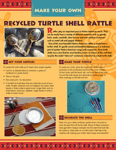 Native American Turtle Shell Rattle Craft Using Recycled M