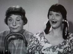 Lucy Ricardo and Ethel Mertz. Zaniest best friends ever. Hands. Down. :D |I Love Lucy funny|