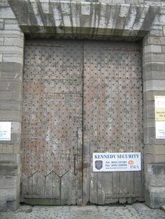 The original doors from the 1800's still there today. These terrified children would have to go through these doors to their prison cells