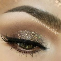 Holiday Look by Aurora G. Click the pic to see the products she used. #beauty #makeup #bling #glitter