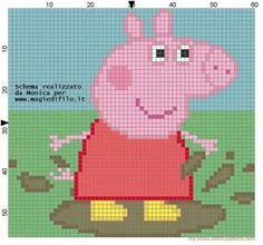 Image result for peppa knitting chart