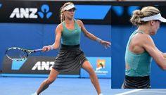 A little bit of retro - high-waisted Nike skirt - Eugenie Bouchard at the 2014 Australian Open