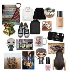"""""""Harry Potter look!"""" by emmizzzz on Polyvore featuring moda, even&odd, Converse, Rains, Urban Decay, Isaia e OPI"""
