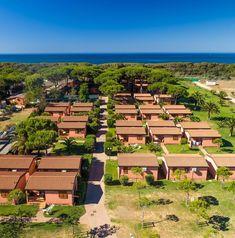 Itálie, Toskánsko - kemp Club degli Amici. Dovolená u moře, bungalovy blízko pláže, povolen pobyt se psem.