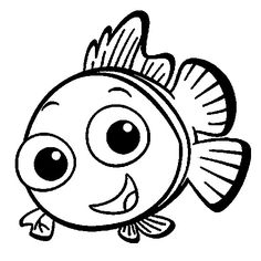 """Baby Nemo Coloring Pages. Nemo is the main character of the 2003 animated adventure movie """"Finding Nemo,"""" released by Walt Disney Pictures and produced by Pixar Animation Studi. Finding Nemo Coloring Pages, Fish Coloring Page, Preschool Coloring Pages, Coloring Pages For Boys, Cartoon Coloring Pages, Disney Coloring Pages, Animal Coloring Pages, Free Printable Coloring Pages, Coloring Book Pages"""