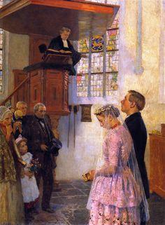 The Wedding - Gari Melchers