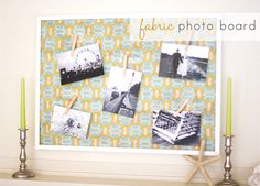 DIY Fabric Photo Board