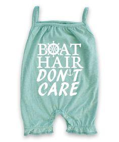 Aqua 'Boat Hair Don't Care' Tank Romper - Infant