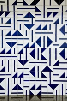 Blue and white tile work | National Museum of Gems Brazil | Athos
