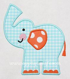 Elephant 3 Applique Design
