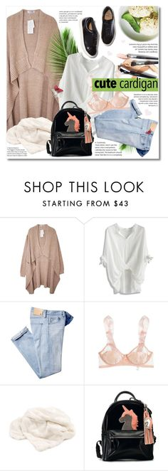 """""""Cute Spring Cardis"""" by ksenia-yo ❤ liked on Polyvore featuring Chicwish, AG Adriano Goldschmied, STELLA McCARTNEY, Dot & Bo and Eytys"""