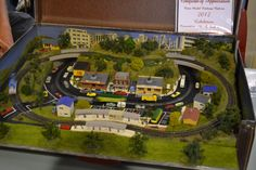Model railway in a case