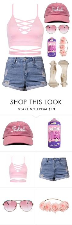 """""""Positive Vibes"""" by alexa432 ❤ liked on Polyvore featuring Somedays Lovin and Minnie Rose"""