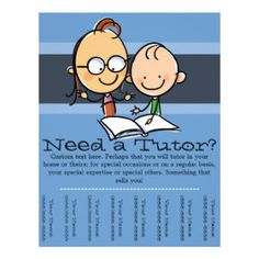 Tutor.Tutoring.Customizable advertising Flyer Design