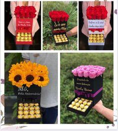 Flower Box Gift, Flower Boxes, Valentines Surprise, Valentine Day Gifts, Chocolate Gifts, Chocolate Box, Emoji Craft, Chocolate Flowers Bouquet, Birthday Room Decorations