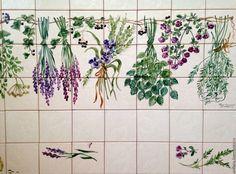 Provence Kitchen, Blue Tiles, Portuguese, Murals, Decoupage, Stencils, Table Settings, The Originals, Stuff To Buy