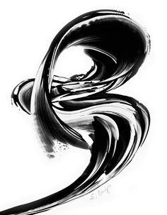 Black and White Painting BW Abstract Art by BuyArtSharonCummings