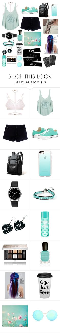 """😺"" by alaxaaleys ❤ liked on Polyvore featuring Kamilla White, RVCA, Converse, Casetify, Mestige, Chan Luu, Witch Worldwide, Givenchy, Deborah Lippmann and Manic Panic NYC"